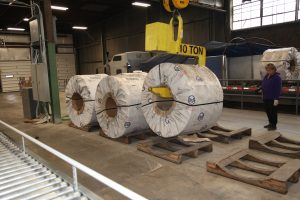 Steel Coils on Pallets